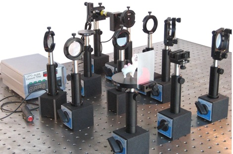 Optics kits for geometric optics, physical optics & modern optics to cover ray tracing, imaging, interference, diffraction, polarization, holography & Fourier optics.